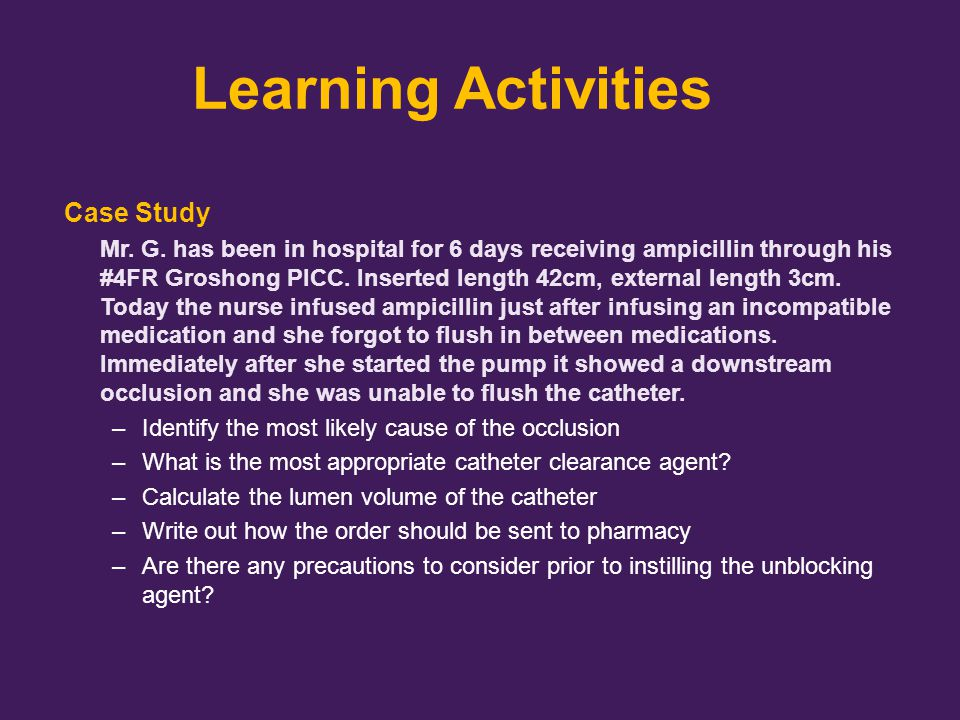 Learning Activities Case Study