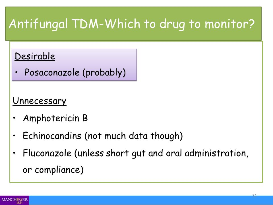 Antifungal TDM-Which to drug to monitor