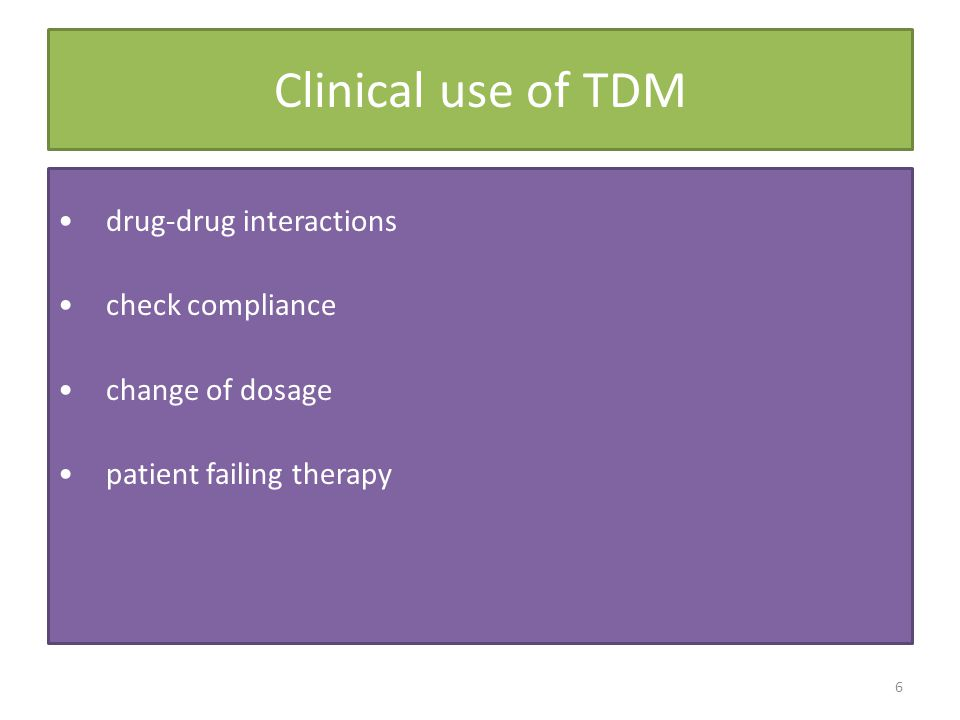 Clinical use of TDM drug-drug interactions check compliance