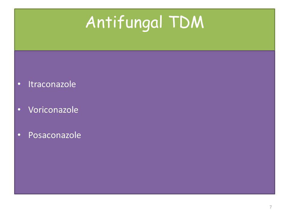 Antifungal TDM Itraconazole Voriconazole Posaconazole