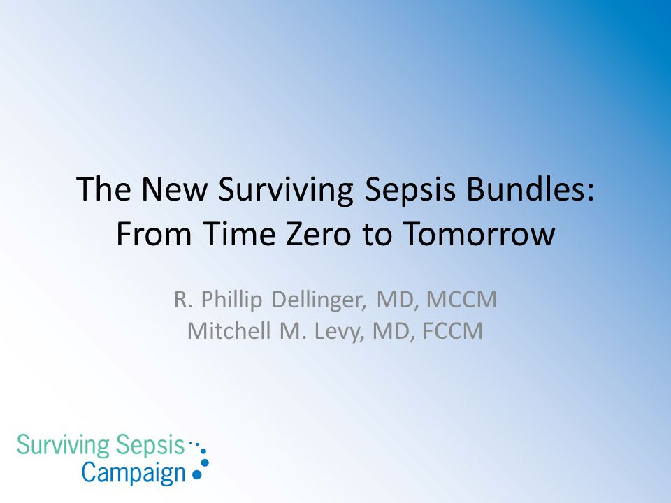 The New Surviving Sepsis Bundles: From Time Zero to Tomorrow