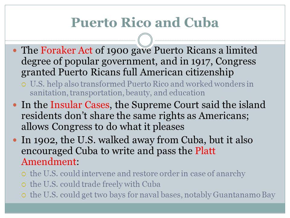 Puerto Rico and Cuba