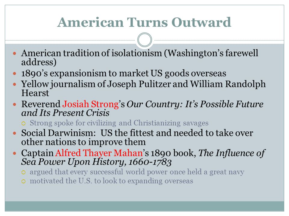 American Turns Outward