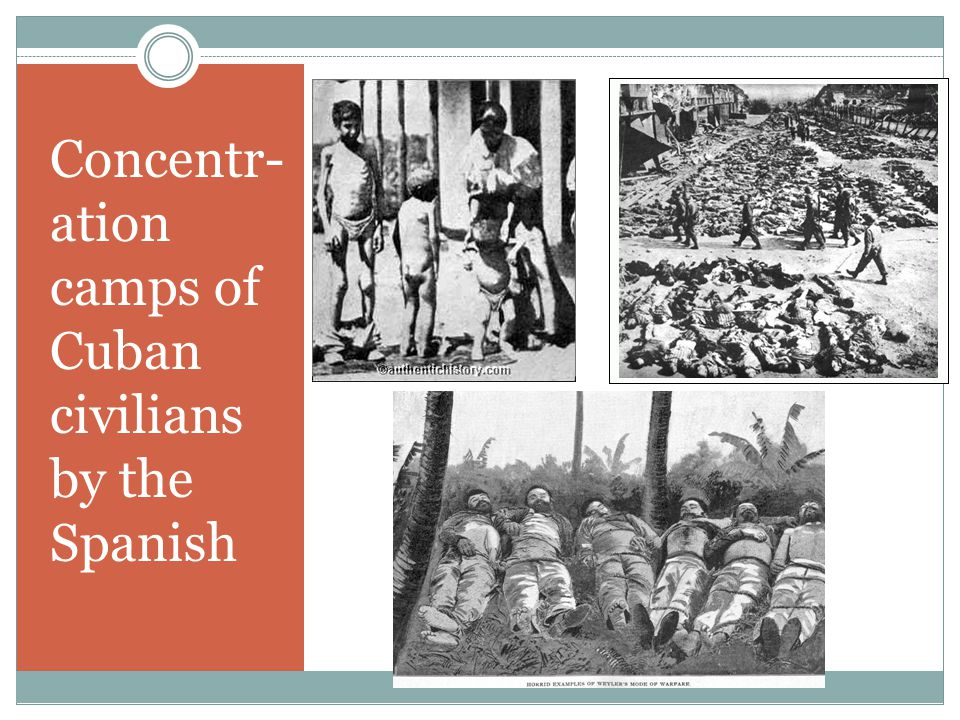 Concentr- ation camps of Cuban civilians by the Spanish