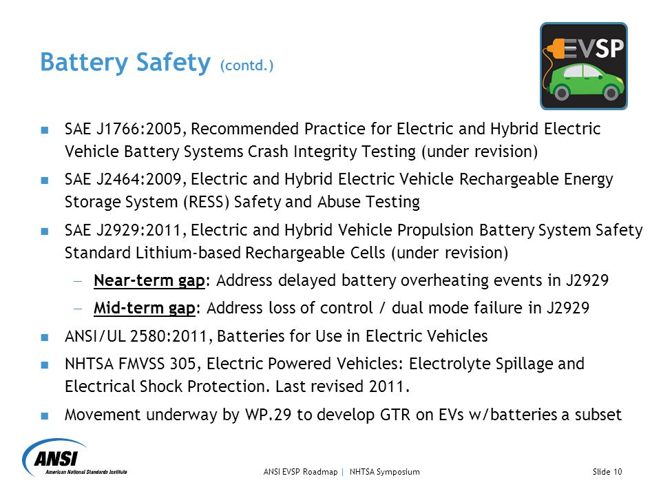 Battery Safety (contd.)