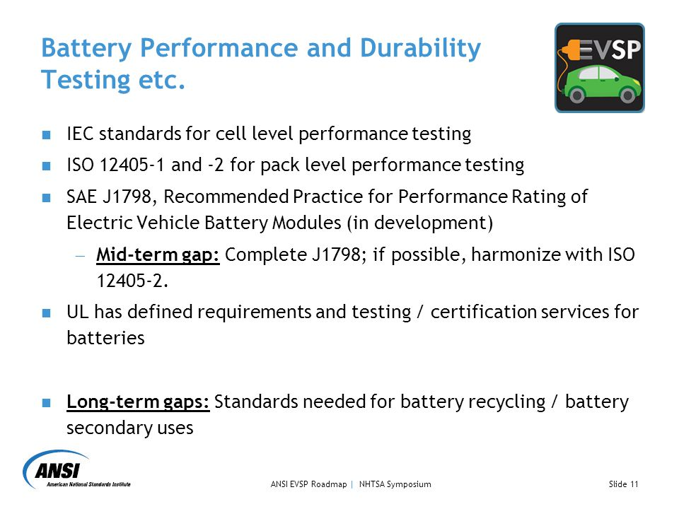 Battery Performance and Durability Testing etc.