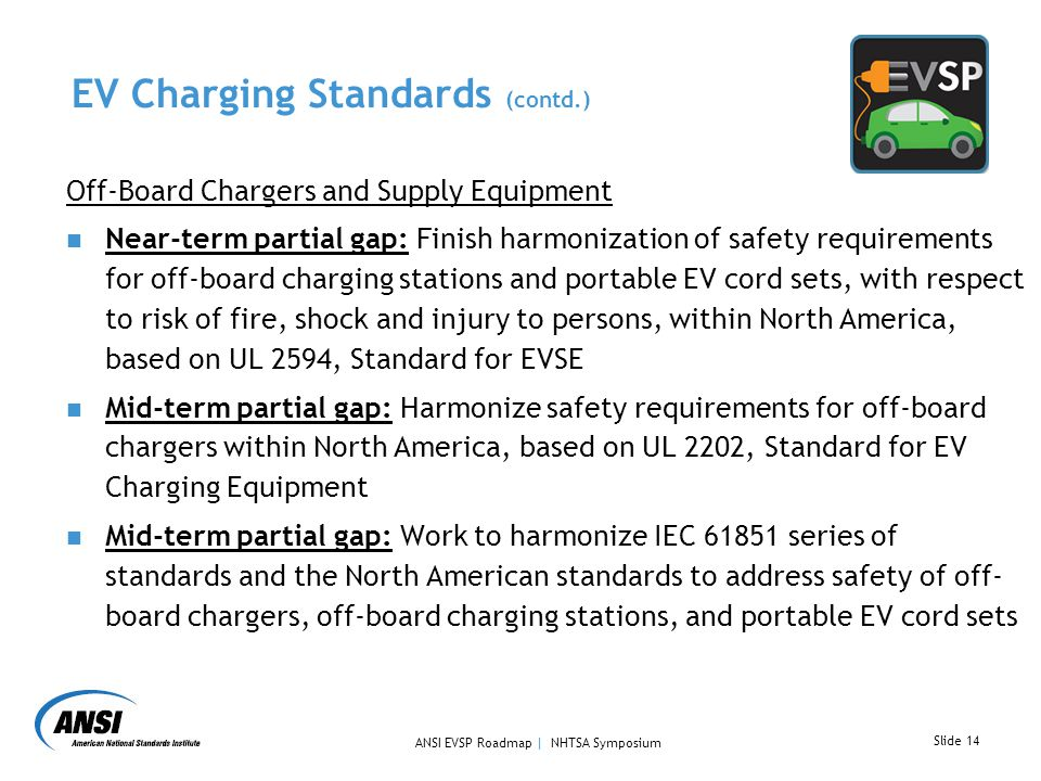 EV Charging Standards (contd.)