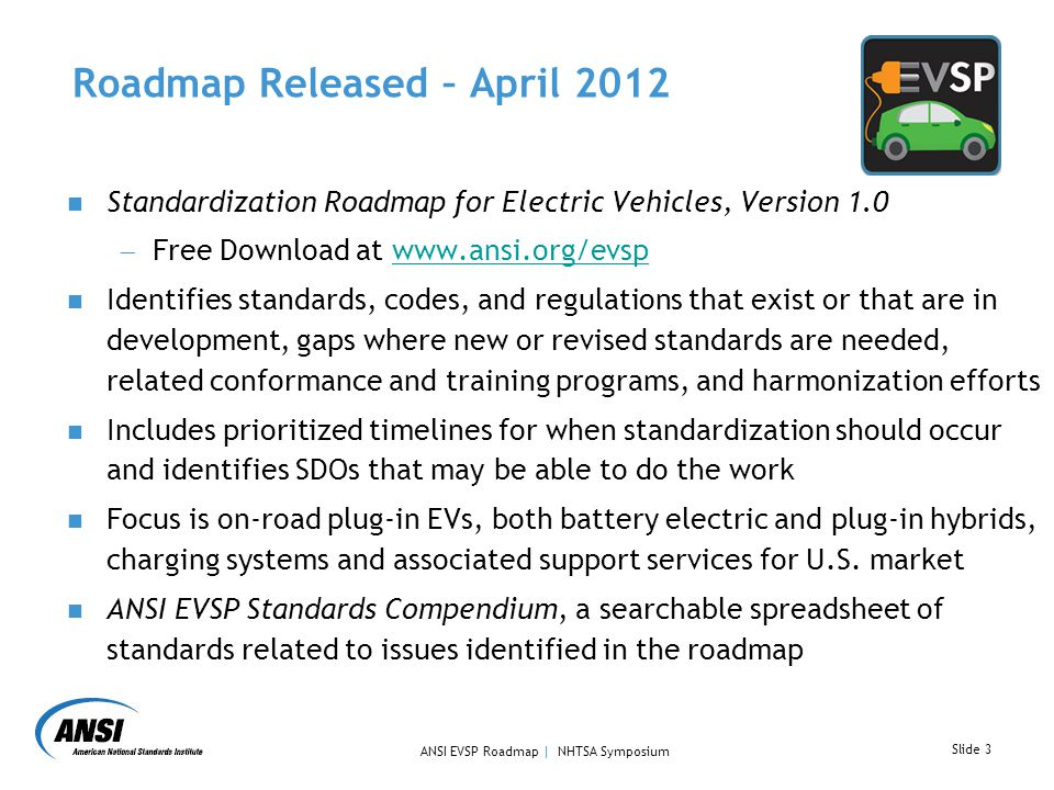 Standardization Roadmap For US Electric Vehicle Deployment Ppt - Us Road Map Download