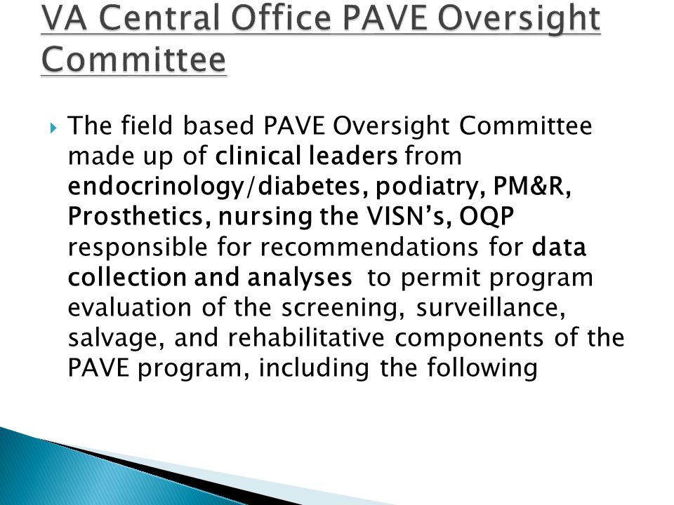 VA Central Office PAVE Oversight Committee