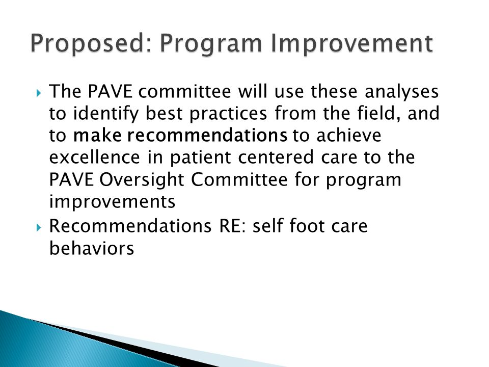 Proposed: Program Improvement