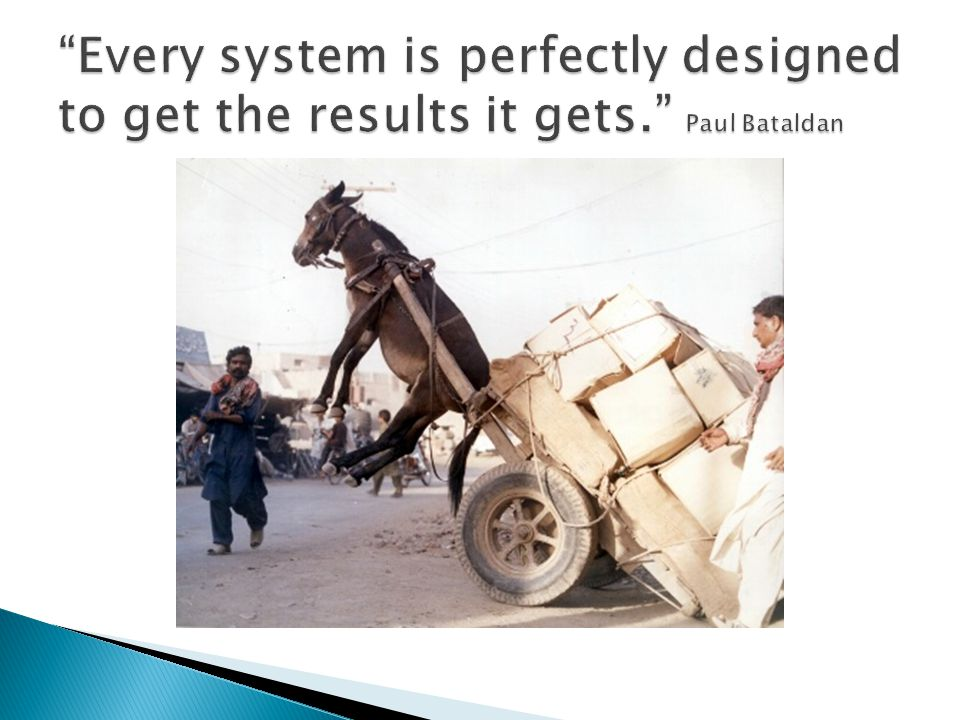 Every system is perfectly designed to get the results it gets