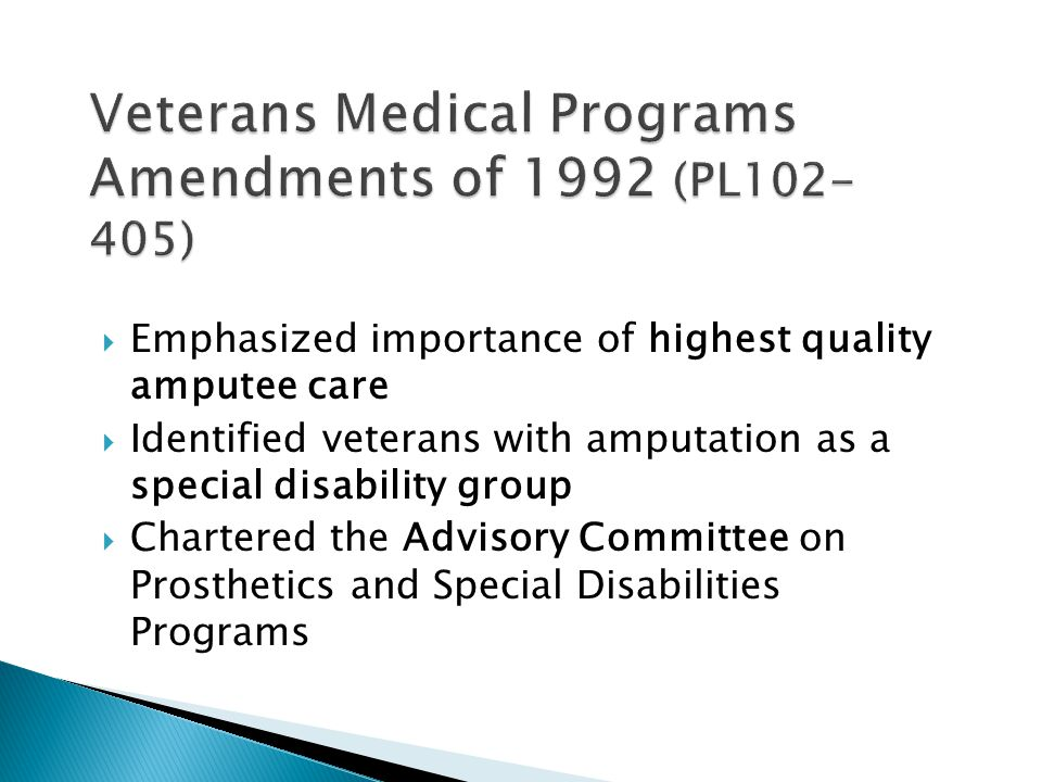 Veterans Medical Programs Amendments of 1992 (PL102-405)
