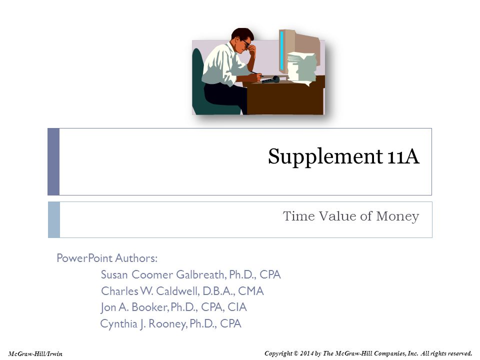 Supplement 11A Time Value of Money Supplement 11A: Time Value of Money