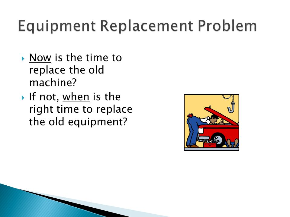 Equipment Replacement Problem