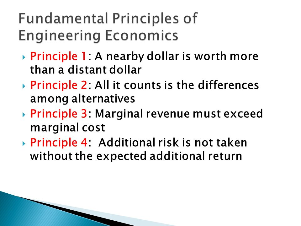 Fundamental Principles of Engineering Economics