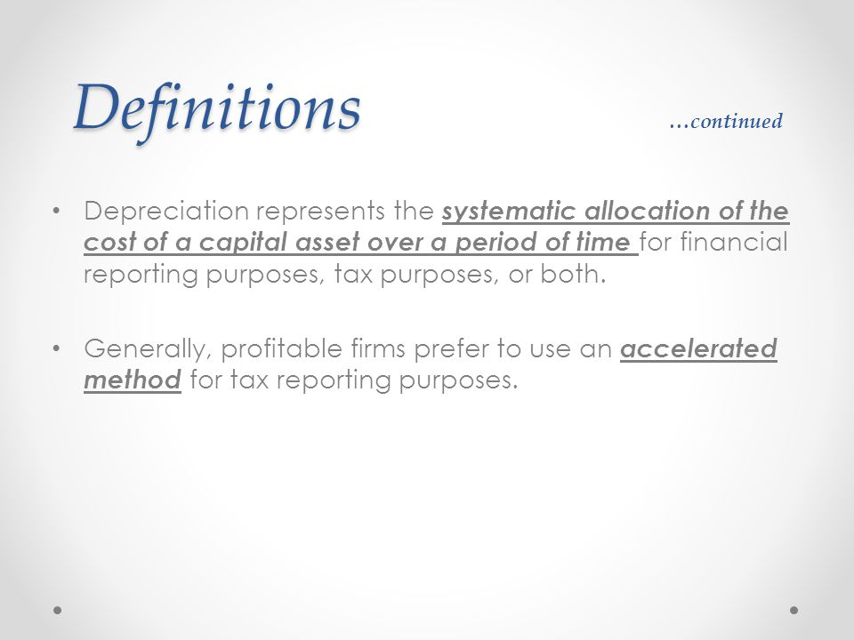 Definitions …continued