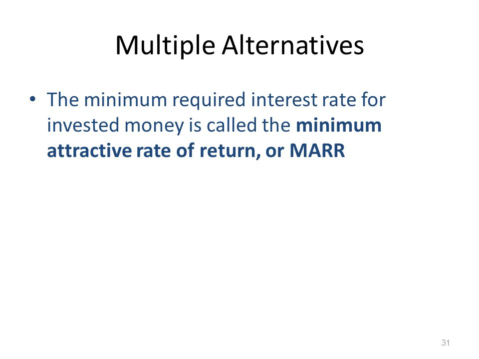 Multiple Alternatives