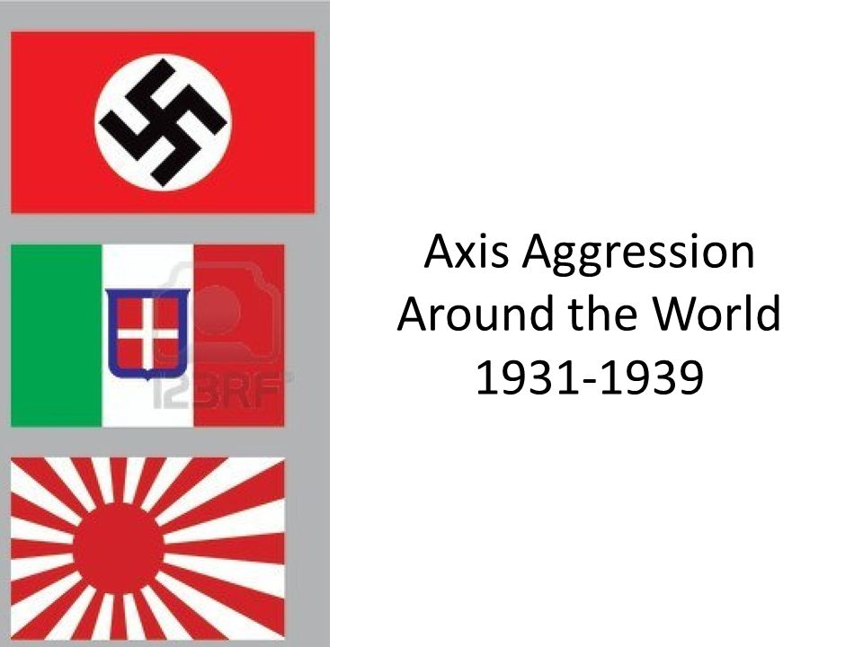Axis Aggression Around the World 1931-1939