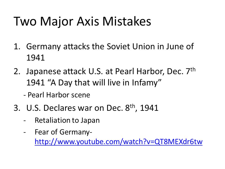 Two Major Axis Mistakes