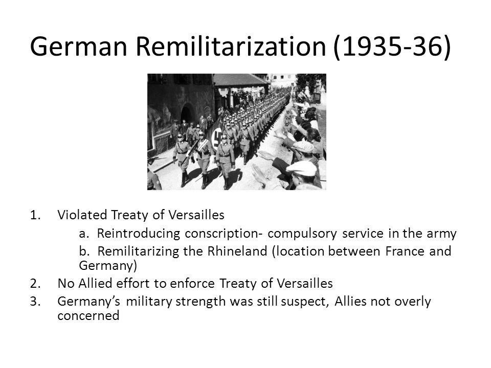 German Remilitarization (1935-36)
