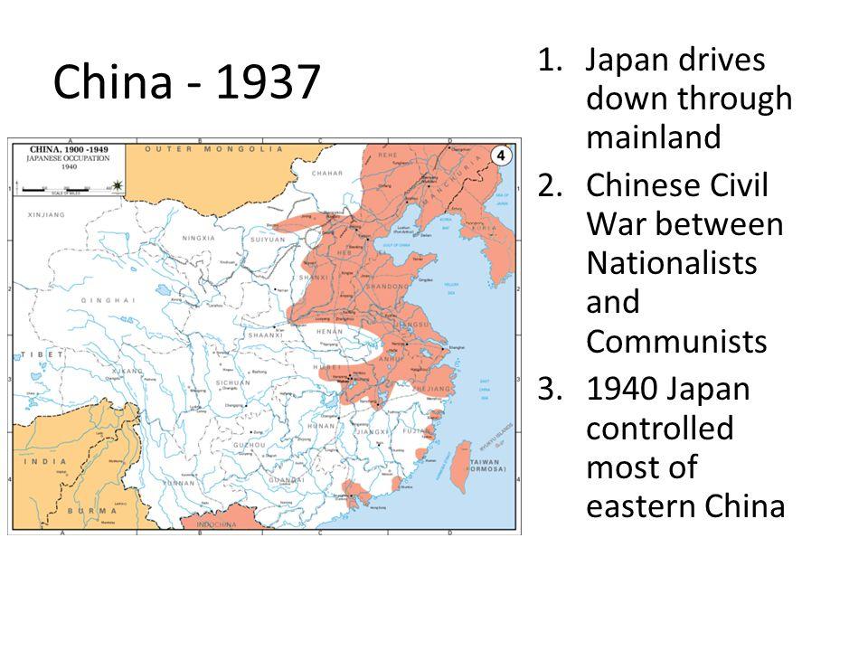 China - 1937 Japan drives down through mainland
