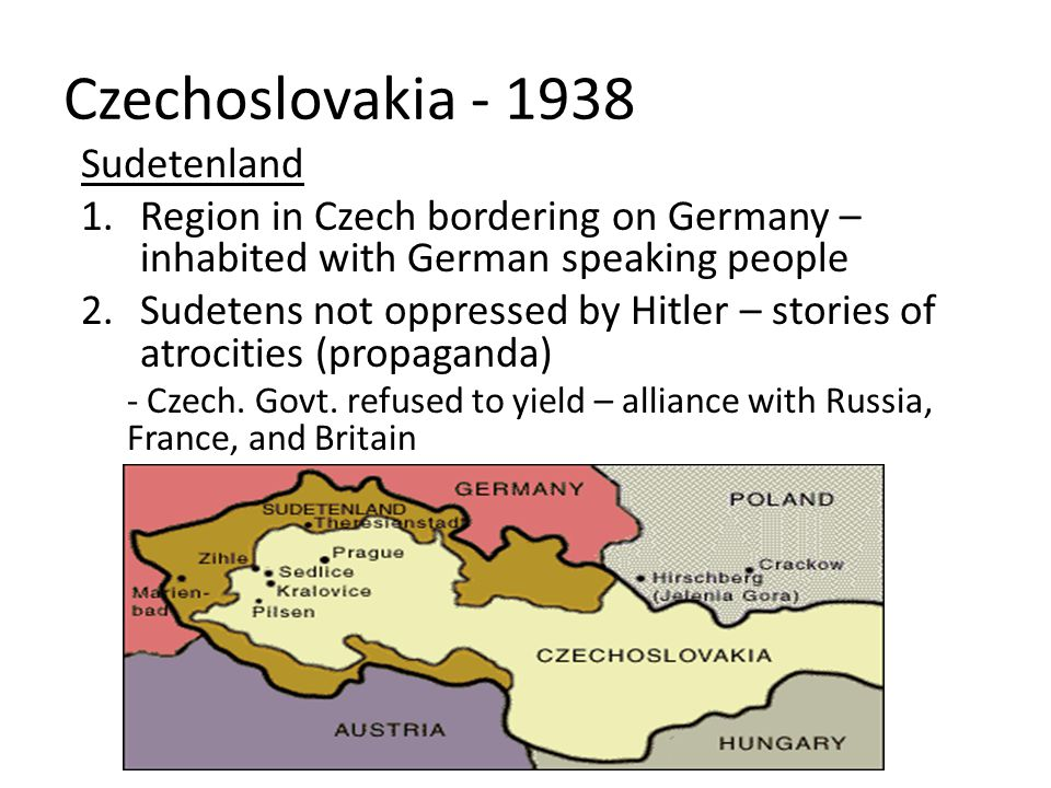 Czechoslovakia - 1938 Sudetenland