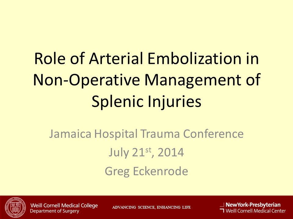 Jamaica Hospital Trauma Conference July 21st, 2014 Greg Eckenrode