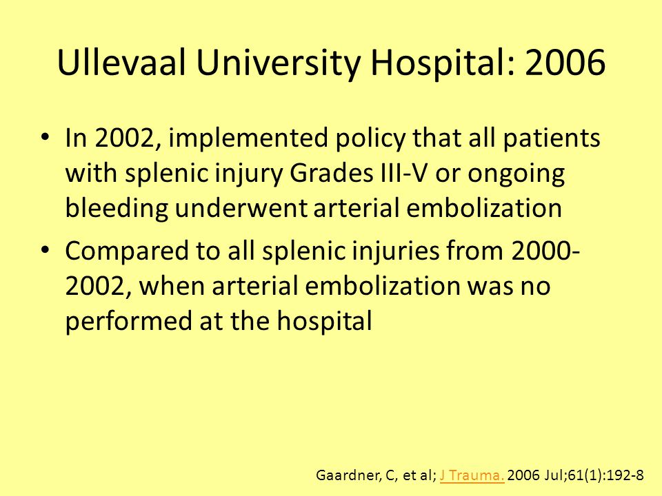 Ullevaal University Hospital: 2006