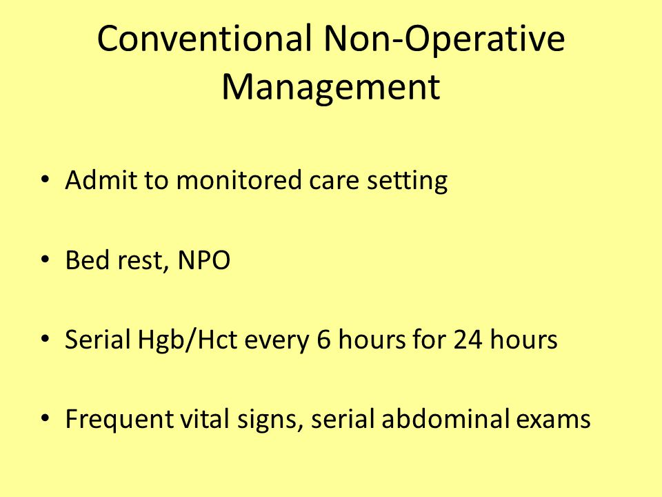 Conventional Non-Operative Management