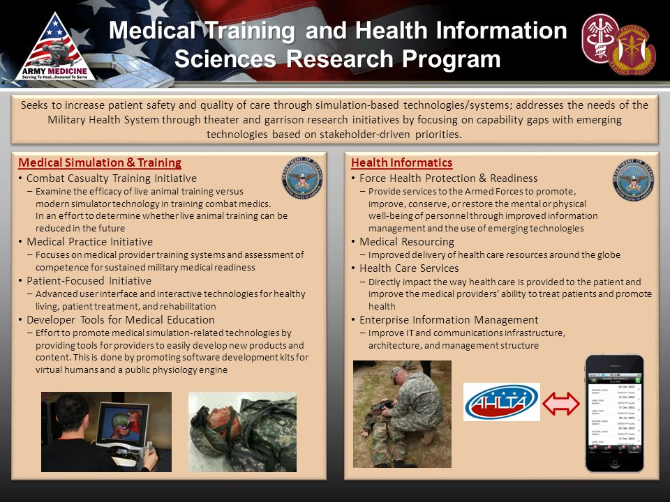 Medical Training and Health Information Sciences Research Program