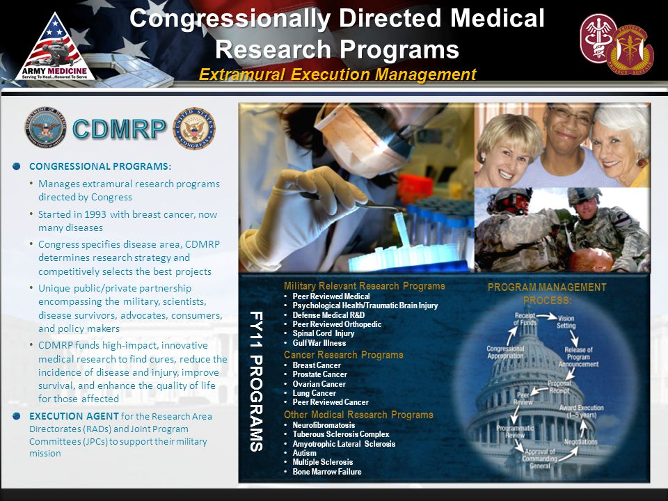 Congressionally Directed Medical Research Programs CDMRP