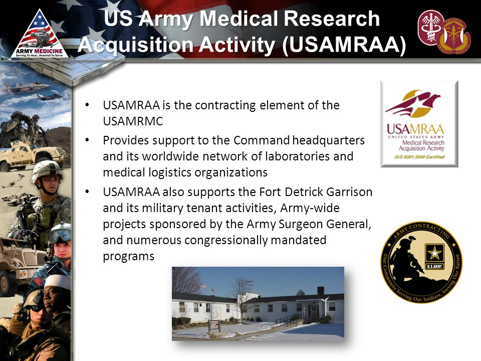 US Army Medical Research Acquisition Activity (USAMRAA)