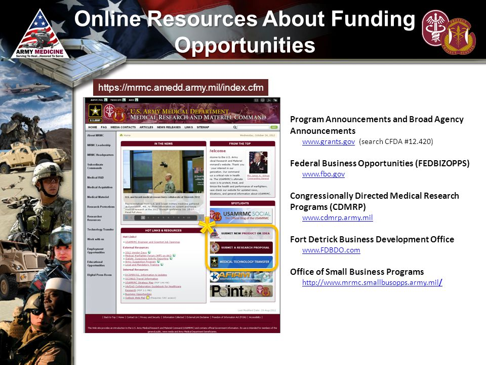 Online Resources About Funding Opportunities