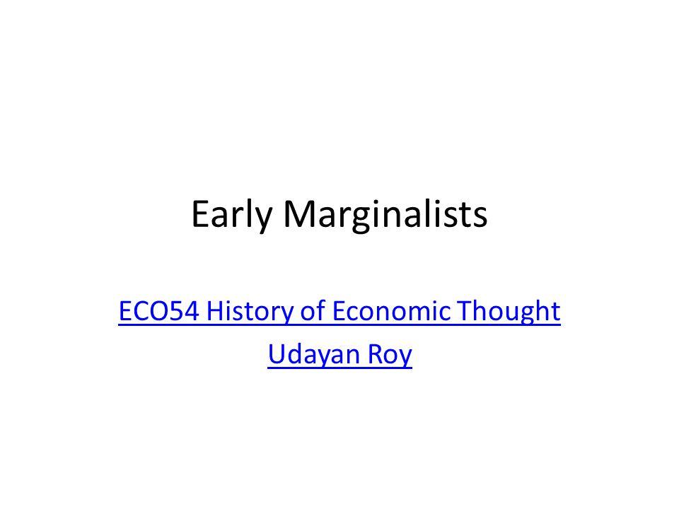 ECO54 History of Economic Thought Udayan Roy