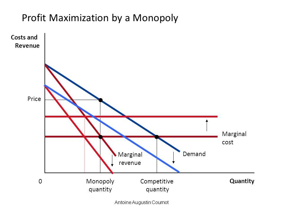 Profit Maximization by a Monopoly