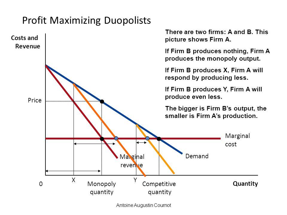 Profit Maximizing Duopolists