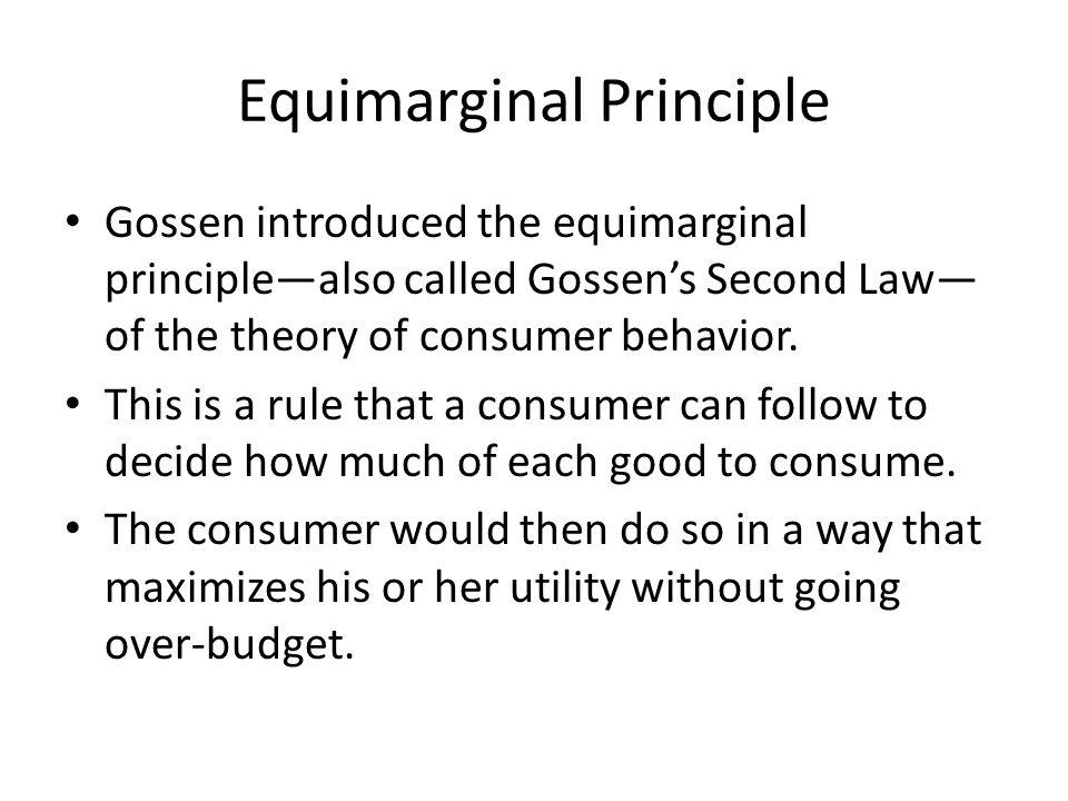 Equimarginal Principle