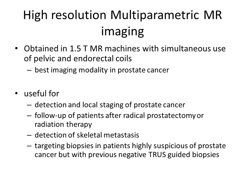 High resolution Multiparametric MR imaging