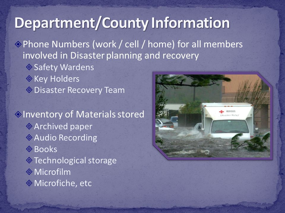 Department/County Information