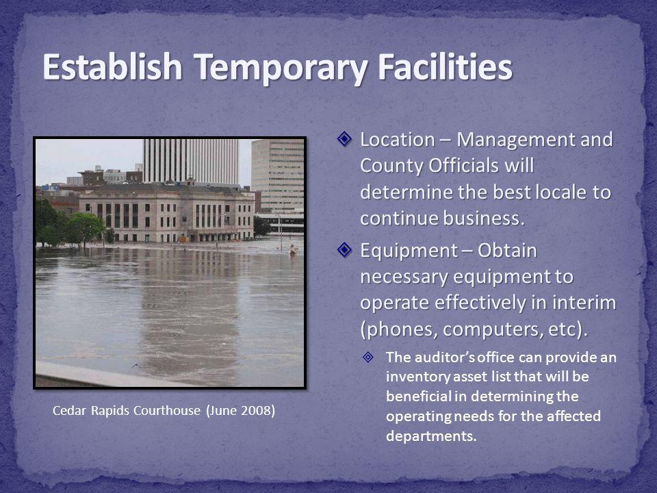 Establish Temporary Facilities