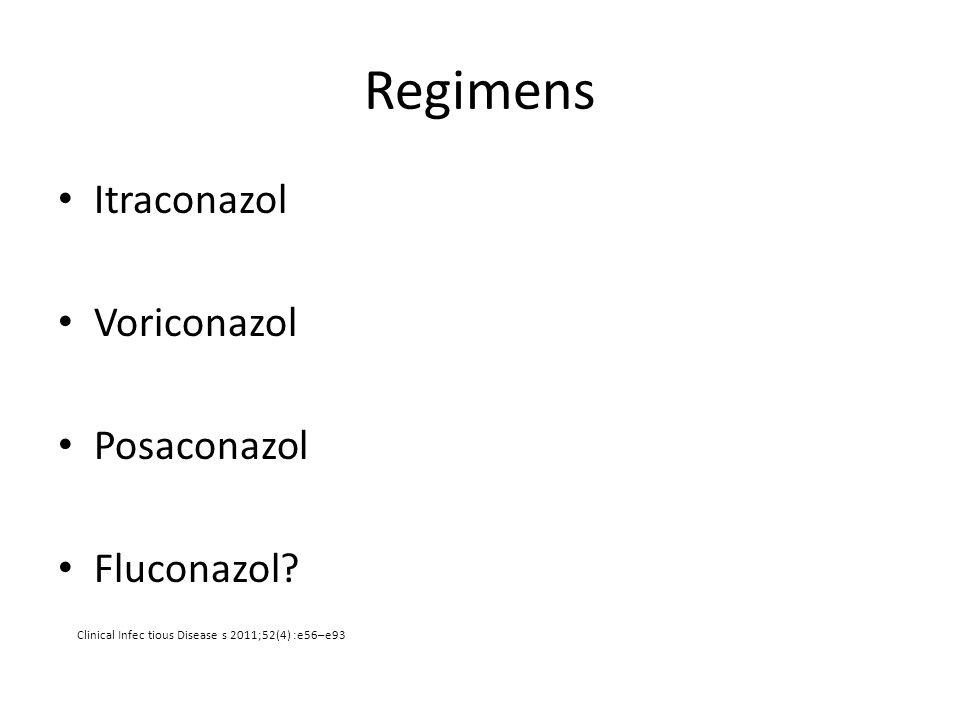 Regimens Itraconazol Voriconazol Posaconazol Fluconazol