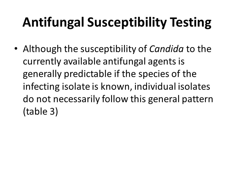 Antifungal Susceptibility Testing
