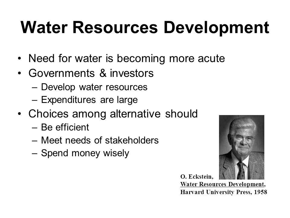 Water Resources Development