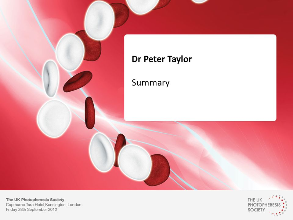 Dr Peter Taylor Summary