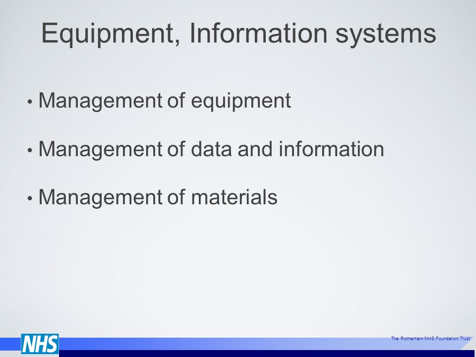 Equipment, Information systems