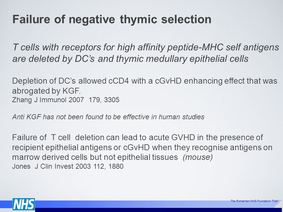 Failure of negative thymic selection