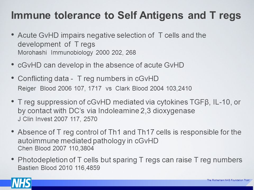 Immune tolerance to Self Antigens and T regs