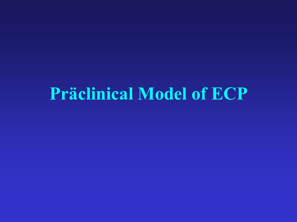 Präclinical Model of ECP