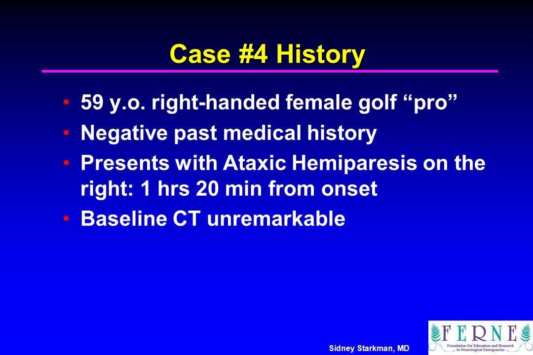 Case #4 History 59 y.o. right-handed female golf pro