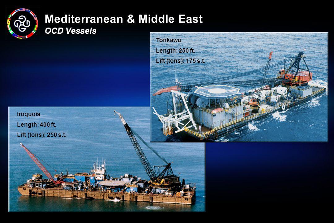 Mediterranean & Middle East OCD Vessels